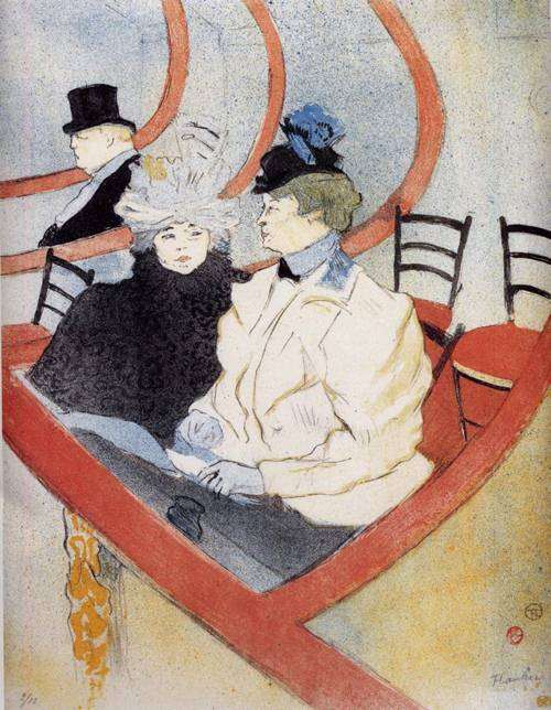 Box in the Grand Tier 1896-1897 | Henri Toulouse Lautrec | Oil Painting