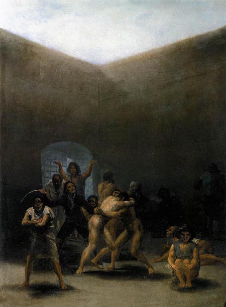 The Yard of a Madhouse 1794 | Francisco de Goya | Oil Painting