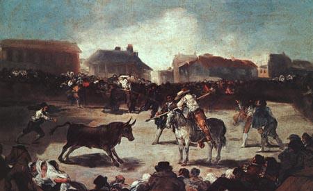 Village Bullfight 1793 | Francisco de Goya | Oil Painting