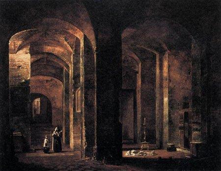 Crypt of San Martino ai Monti Rome 1806 | Francois Marius Granet | Oil Painting