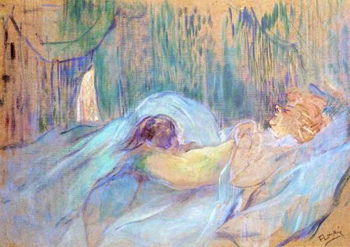 Brothel on the Rue des Moulins Rolande 1894 | Henri Toulouse Lautrec | Oil Painting