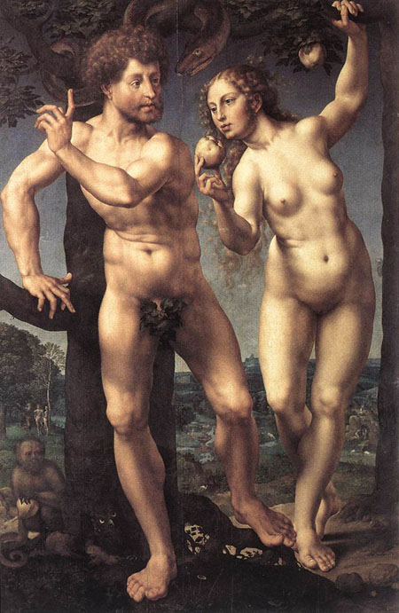 Adam and Eve 1525 | Jan Gossaert | Oil Painting