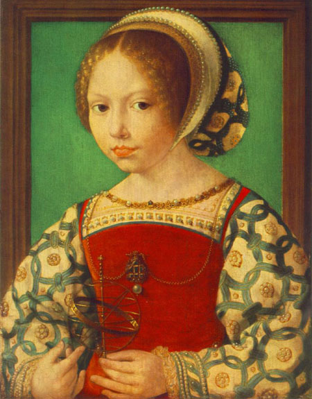 Young Girl with Astronomic Instrument 1520 | Jan Gossaert | Oil Painting