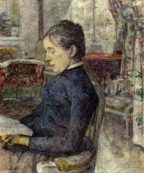 Comtesse a.de Toulouse-Lautrec in the Salon at Malrome 1887 | Henri Toulouse Lautrec | Oil Painting