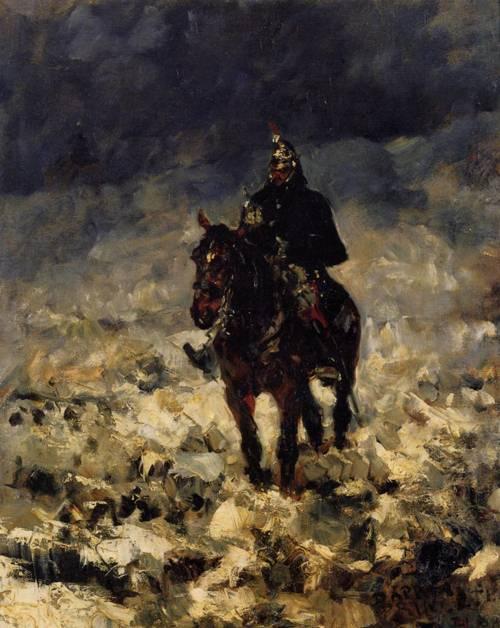 Cuirassxier 1881 | Henri Toulouse Lautrec | Oil Painting