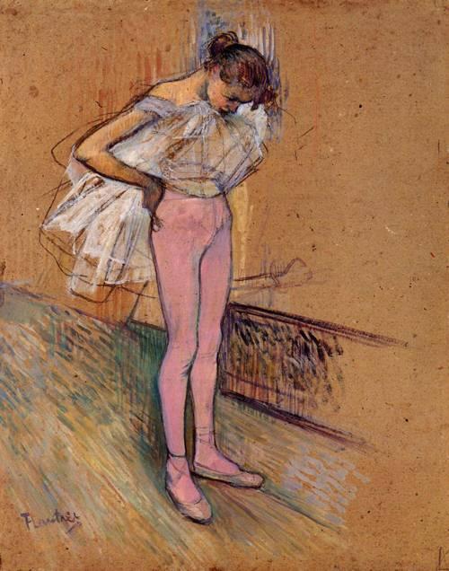 Dancer Adjusting Her Tights 1890 | Henri Toulouse Lautrec | Oil Painting