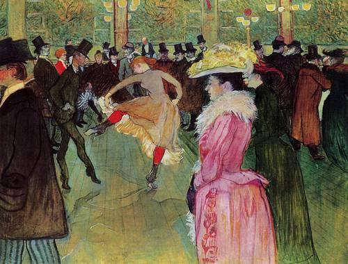 Dance at the Moulin Rouge 1889-1890 | Henri Toulouse Lautrec | Oil Painting