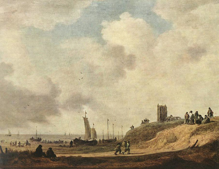 Seashore at Scheveningen | Jan van Goyen | Oil Painting