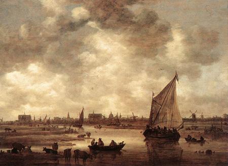 View of Leiden 1650 | Jan van Goyen | Oil Painting