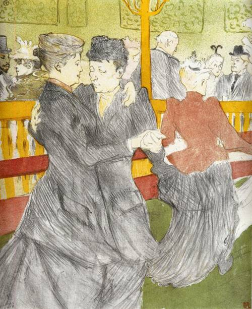Dancing at the Moulin Rouge 1897 | Henri Toulouse Lautrec | Oil Painting