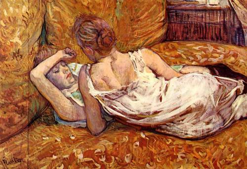 Devotion the Two Girlfriends 1895 | Henri Toulouse Lautrec | Oil Painting