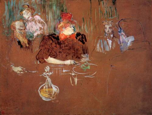 Dinner at the House of M.and Mme.Nathanson 1898 | Henri Toulouse Lautrec | Oil Painting