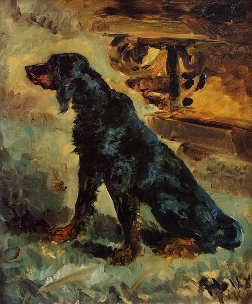 Dun a Gordon Setter Belonging to Comte Alphonse de Toulouse-Lautrec 1881 | Henri Toulouse Lautrec | Oil Painting