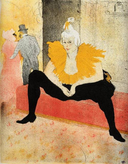 Elles Cha-U-Kao Chinese Clown Seated 1896 | Henri Toulouse Lautrec | Oil Painting