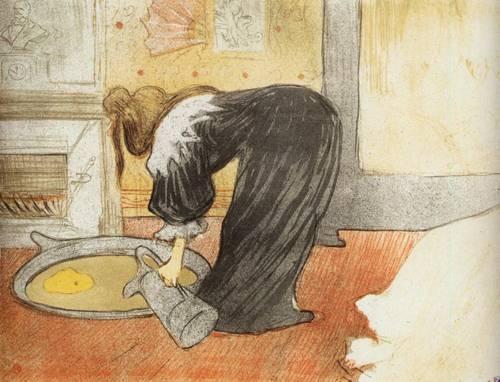 Elles Woman with a Tub 1896   Henri Toulouse Lautrec   Oil Painting