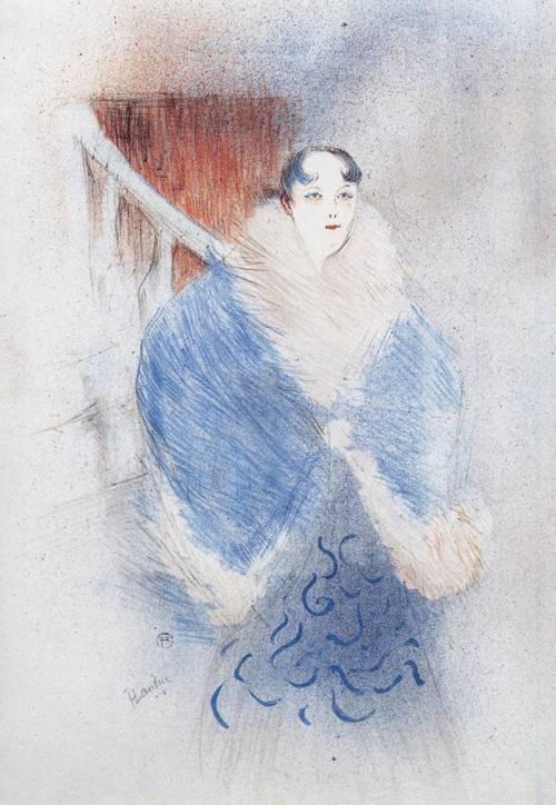 Elsa Known as the Viennese 1897   Henri Toulouse Lautrec   Oil Painting