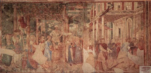 The Vintage and Drunkenness of Noah 1469 1484 | Benozzo di Lese di Sandro Gozzoli | Oil Painting