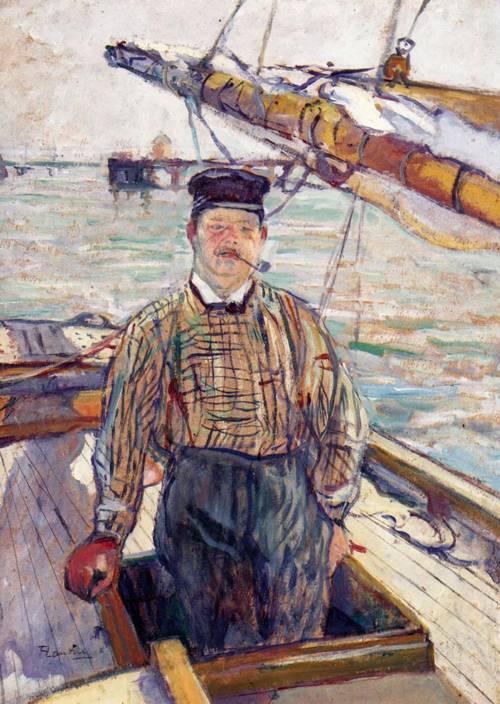 Emile Davoust 1889   Henri Toulouse Lautrec   Oil Painting