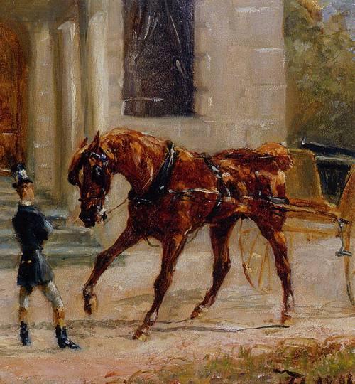 Equipage au Bosc 1881   Henri Toulouse Lautrec   Oil Painting