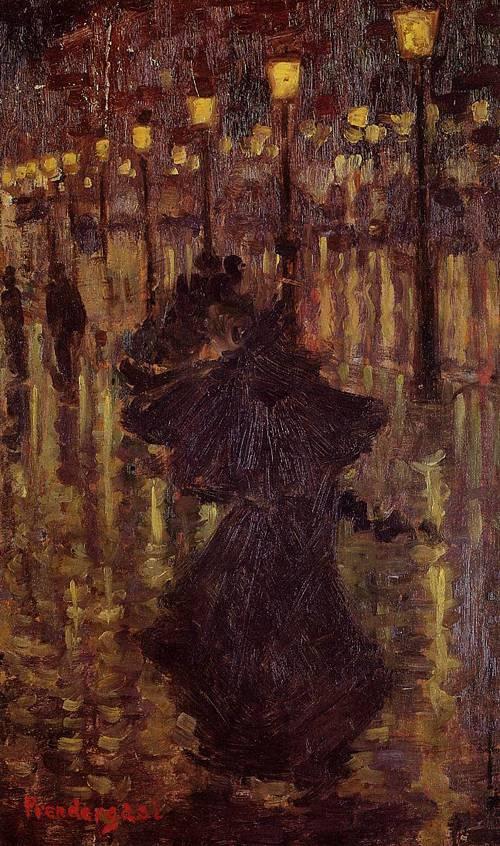 Evening Shower Paris 1892-1894   Henri Toulouse Lautrec   Oil Painting