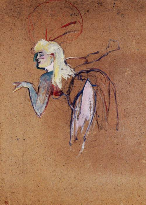 Extra in the Folies-Bergere Revue 1896   Henri Toulouse Lautrec   Oil Painting