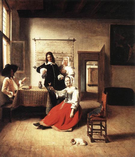 Young Woman Drinking 1658 | Pieter de Hooch | Oil Painting