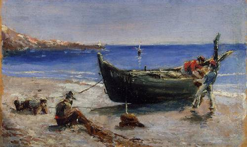 Fishing Boat 1880 | Henri Toulouse Lautrec | Oil Painting