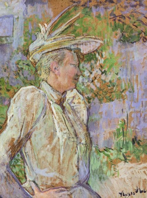 Gabrielle the Dancer 1890   Henri Toulouse Lautrec   Oil Painting