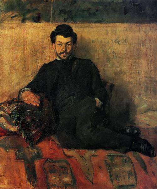 Gustave Lucien Dennery 1883   Henri Toulouse Lautrec   Oil Painting