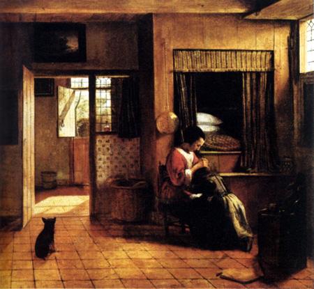 The Mother 1660 | Pieter de Hooch | Oil Painting