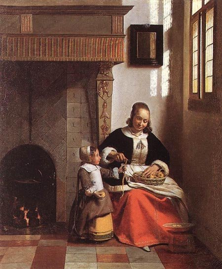 Woman Peeling Apples 1663 | Pieter de Hooch | Oil Painting