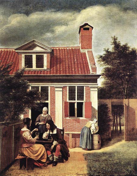 Village House 1665 | Pieter de Hooch | Oil Painting
