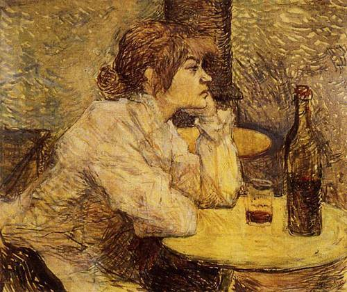 Hangover (aka The Drinker) 1889   Henri Toulouse Lautrec   Oil Painting