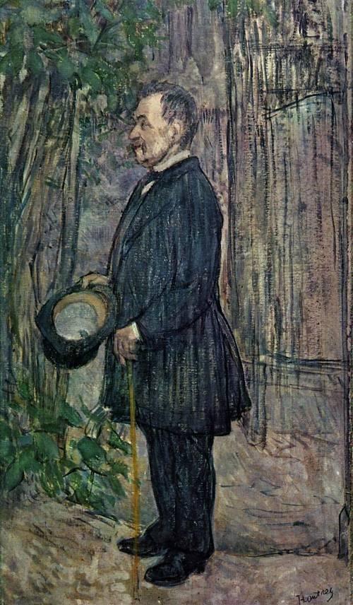 Henri Dihau 1891   Henri Toulouse Lautrec   Oil Painting