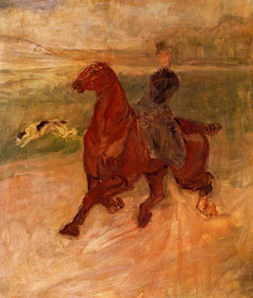 Horsewoman and Dog 1899 | Henri Toulouse Lautrec | Oil Painting