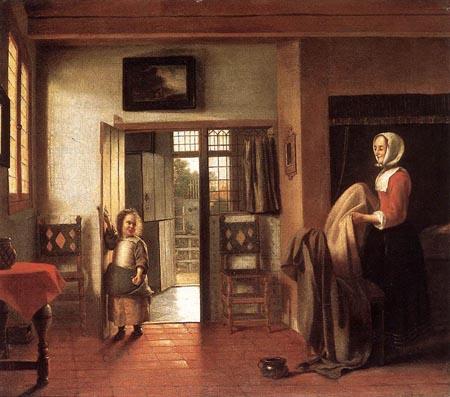 The Bedroom 1658 1660 | Pieter de Hooch | Oil Painting