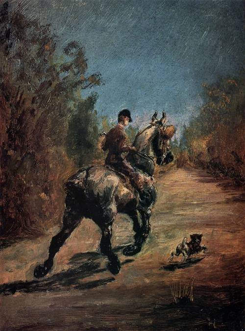 Horse and Rider with a Little Dog 1879 | Henri Toulouse Lautrec | Oil Painting