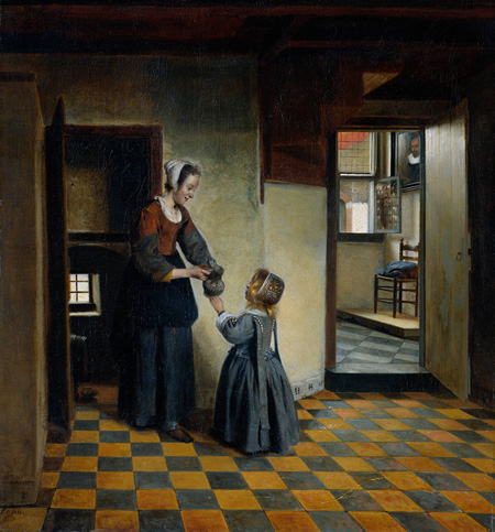 Woman with a Child in a Pantry 1660 | Pieter de Hooch | Oil Painting