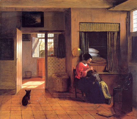 A Mother and Child with Its Head in Her Lap 1658 1660 | Pieter de Hooch | Oil Painting