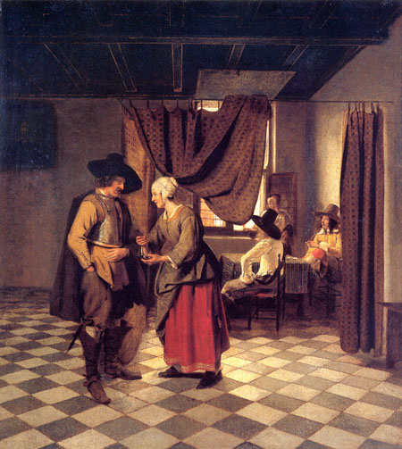 Paying the Hostess 1658 | Pieter de Hooch | Oil Painting
