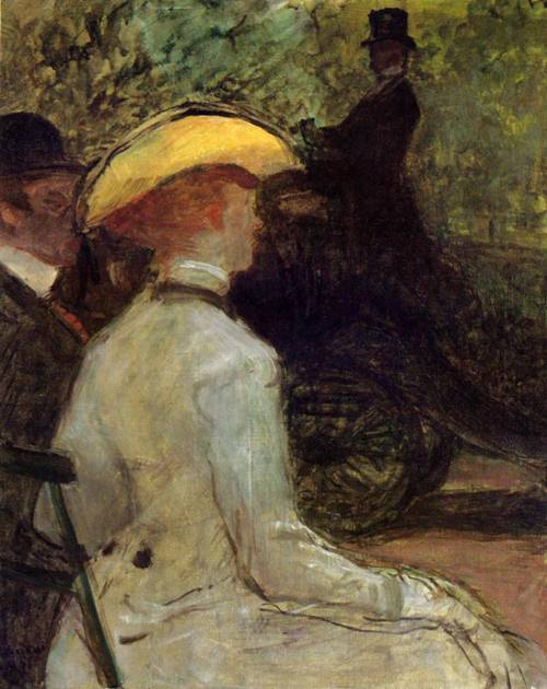 In the Bois de Boulogne 1901 | Henri Toulouse Lautrec | Oil Painting