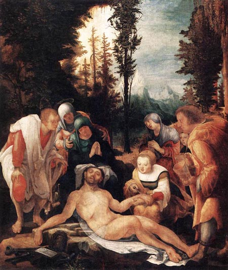 The Lamentation of Christ 1524 | Wolf Huber | Oil Painting