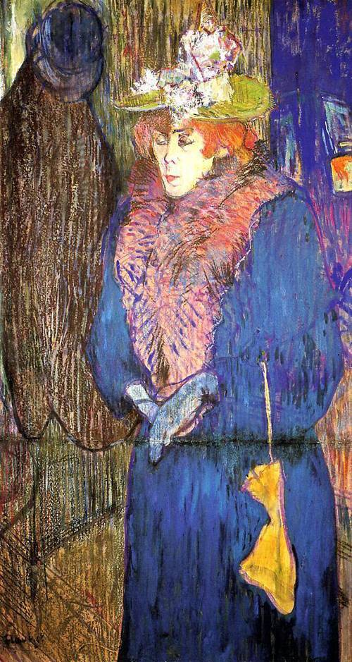 Jane Avril Entering the Moulin Rouge 1892 | Henri Toulouse Lautrec | Oil Painting