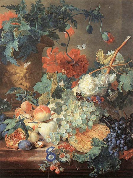 Fruit and Flowers 1720 | Jan Van Huysum | Oil Painting