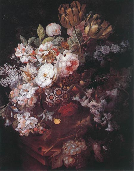 Vase with Flowers 1726 | Jan Van Huysum | Oil Painting