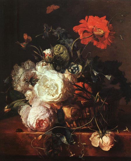 Basket of Flowers | Jan Van Huysum | Oil Painting