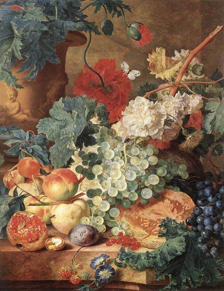 Fruit Still Life | Jan Van Huysum | Oil Painting