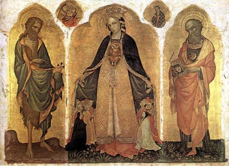 Triptych of the Madonna della Misericordia 1415 | Jacobello Del Fiore | Oil Painting