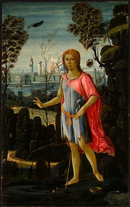 Saint John the Baptist 1480 | Jacopo del Sellaio | Oil Painting