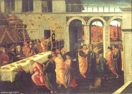 The Banquet of Ahasuerus 1490 | Jacopo del Sellaio | Oil Painting